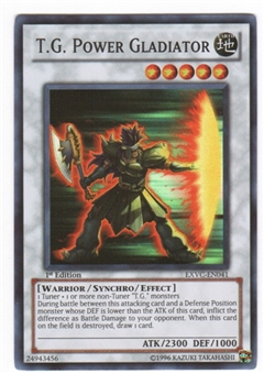 Yu-Gi-Oh Extreme Victory Single T.G. Power Gladiator Super Rare
