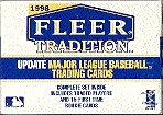 1998 Fleer Tradition Update Baseball Factory Set (box)