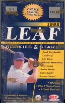 1998 Leaf Rookies & Stars Baseball 12 Pack Box