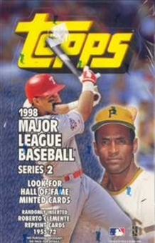 1998 Topps Series 2 Baseball 36 Pack Box