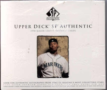 1998 Upper Deck SP Authentic Baseball Hobby Box