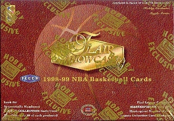 1998/99 Flair Showcase Basketball Hobby Box