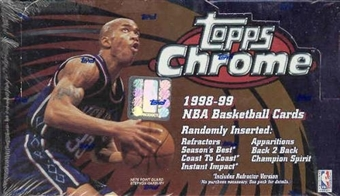 1998/99 Topps Chrome Basketball 24 Pack Box