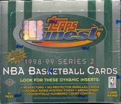 1998/99 Topps Finest Series 2 Basketball Hobby Box