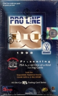 1998 Pro Line DC3 Football Hobby Box