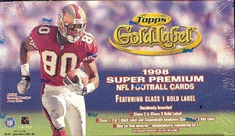 1998 Topps Gold Label Football Hobby Box