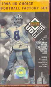 1998 Upper Deck Choice Series 1 Football Factory Set (Box)