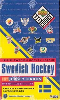 1998/99 Upper Deck Collector's Choice Swedish Hockey Hobby Box