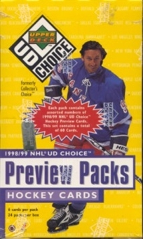1998/99 Upper Deck Choice Preview Hockey Box