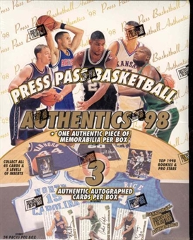 1998/99 Press Pass Authentics Basketball Hobby Box