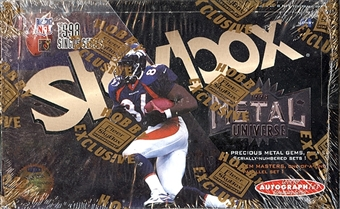1998 Skybox Metal Universe Football Hobby Box