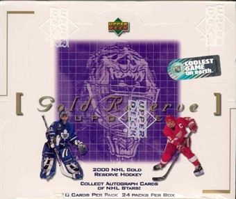 1999/00 Upper Deck Gold Reserve Series 2 Update Hockey Hobby Box