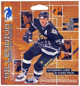 1999/00 ITG Be A Player Signature Series Millennium Hockey Hobby Pack with/Auto