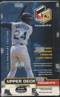 1999 Upper Deck Hologrfx Baseball Retail Box