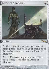 Magic the Gathering Mirrodin Single Altar of Shadows - NEAR MINT (NM)
