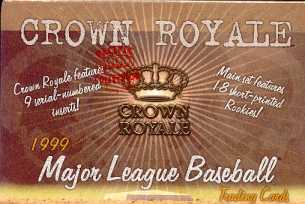 1999 Pacific Crown Royale Baseball Hobby Box