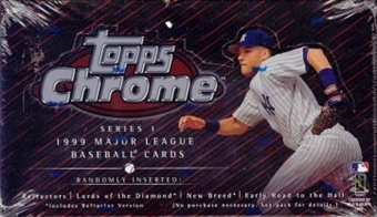 1999 Topps Chrome Series 1 Baseball Retail Box