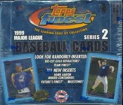 1999 Topps Finest Series 2 Baseball Jumbo Box