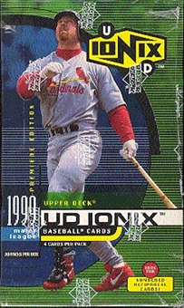 1999 Upper Deck Ionix Baseball Box
