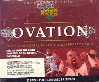 1999 Upper Deck Ovation Baseball Hobby Box