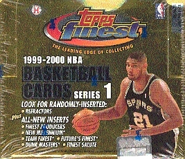 1999/00 Topps Finest Series 1 Basketball Hobby Box