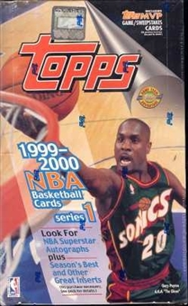 1999/00 Topps Series 1 Basketball Jumbo Box