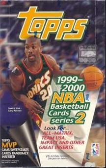 1999/00 Topps Series 2 Basketball Jumbo Box