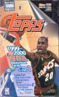 1999/00 Topps Series 1 Basketball Hobby Box