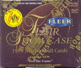 1999 Fleer Flair Showcase Football Hobby Box