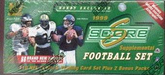 1999 Score Supplemental Football Factory Set (Box)