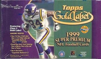 1999 Topps Gold Label Football Hobby Box