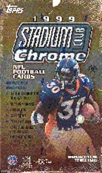 1999 Topps Stadium Club Chrome Football Hobby Box