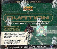 1999 Upper Deck Ovation Football Hobby Box