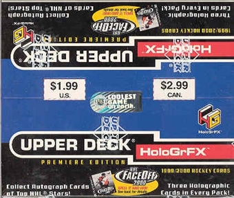 1999/00 Upper Deck Hologrfx Hockey Prepriced Box