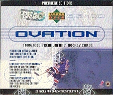 1999/00 Upper Deck Ovation Hockey Hobby Box