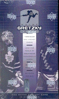 1999/00 Upper Deck Wayne Gretzky Hockey Hobby Box