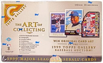 1999 Topps Gallery Baseball Hobby Box