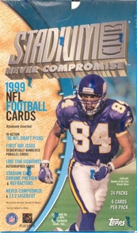 1999 Topps Stadium Club Football 24 Pack Box