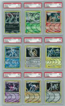 Pokemon Arceus Lot AR1, 2, 3, 4, 5, 6, 7, 8, 9 ALL NINE FORMS ALL PSA 9 MINT