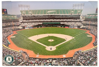 Oakland Athletics Artissimo Coliseum Stadium 22x33 Canvas
