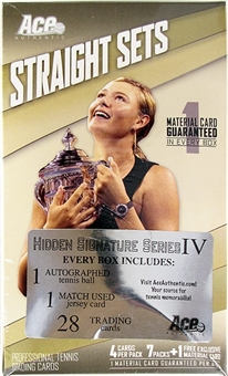 2011 Ace Authentic Hidden Signatures Series 4 Tennis Hobby Box