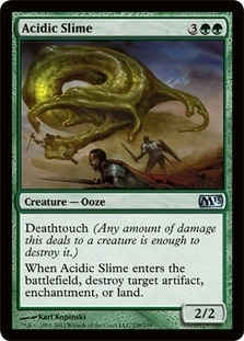 Magic the Gathering 2013 Single Acidic Slime Foil