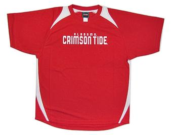 Alabama Crimson Tide Genuine Stuff Red Performance T-Shirt (Size Large)
