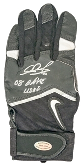 Adam Jones Autographed and Game Used Batting Glove with Inscription
