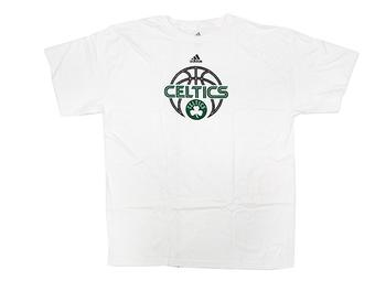 Boston Celtics White Adidas Team Issue T-Shirt (Size Large)