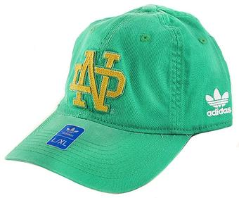 Notre Dame Fighting Irish Adidas Green Slope Flex Fit Hat (Adult L/XL)