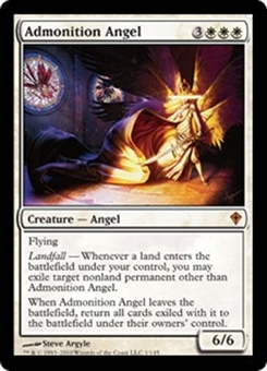 Magic the Gathering Worldwake Single Admonition Angel Foil