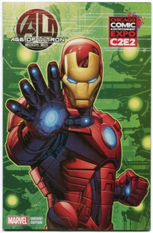 Age Of Ultron #6 Iron Man Variant Cover 2013 C2E2 Exclusive