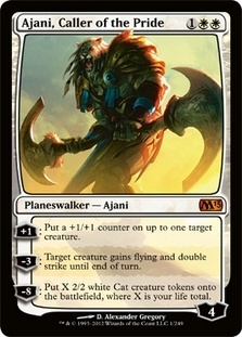 Magic the Gathering 2013 Single Ajani, Caller of the Pride FOIL