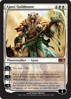 Magic the Gathering 2011 Single Ajani Goldmane - NEAR MINT (NM)